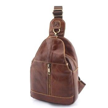 7efd05cdb808 ZZNICK 2019 Мужская нагрудная сумка на плечо модная сумка из натуральной  кожи Большая маленькая модель сумка повседневная сумка 3102