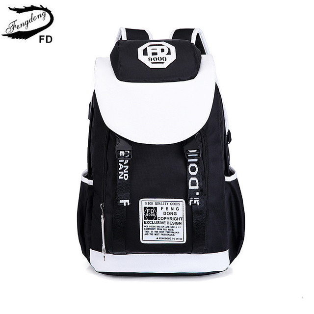 FengDong high school backpack for boy backbag children school bags for boys  men travel laptop backpack schoolbag dropshipping 6a411347cfcd5