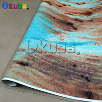 Car Rust Protection Rusty Style Sticker Bomb Rust Vinyl Car Wrap Blue Camouflage Adhesive Film Camo Film 1.52x30m