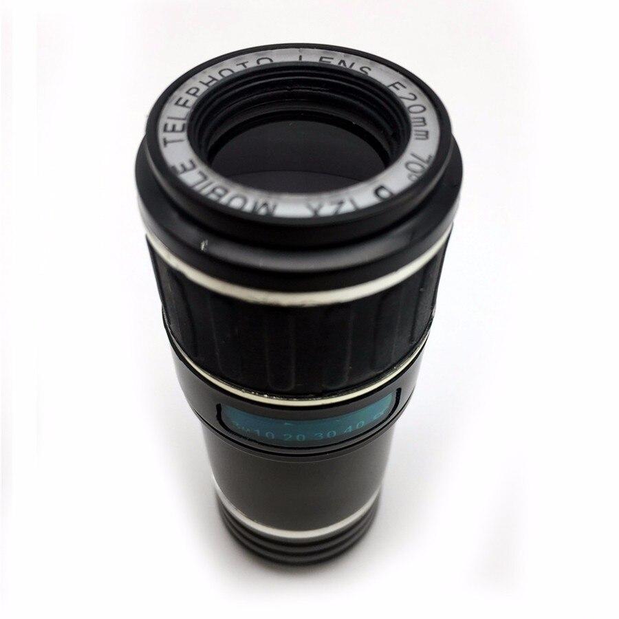 Newest Mobile Phone Camera Lens Kits Fisheye lense Wide Angle Macro Lens 12X Zoom Camera Telephoto Lens For iPhone Samsung LG 12