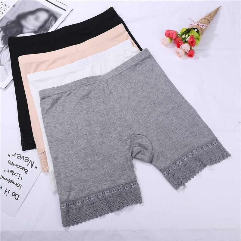 Kadınlar Bralette dikişsiz dantel güvenlik pantolon kadın iç çamaşırı orta bel artı boyutu külot anti-ışık güvenlik şort