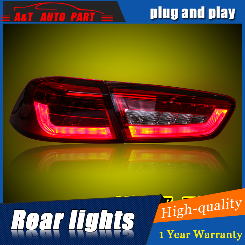 Car Styling LED Tail Lamp for Mitsubishi Lancer Tail Lights for Lancer Rear Light DRL+Turn Signal+Brake+Reverse LED light for vw volkswagen polo mk5 6r hatchback 2010 2015 car rear lights covers led drl turn signals brake reverse tail decoration