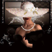 Hat beauty diamond Embroidery diy painting mosaic diamant 3d cross stitch pictures H727