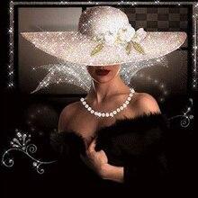 Hat beauty diamond Embroidery diy diamond painting mosaic diamant painting 3d cross stitch diamond pictures H727 стоимость
