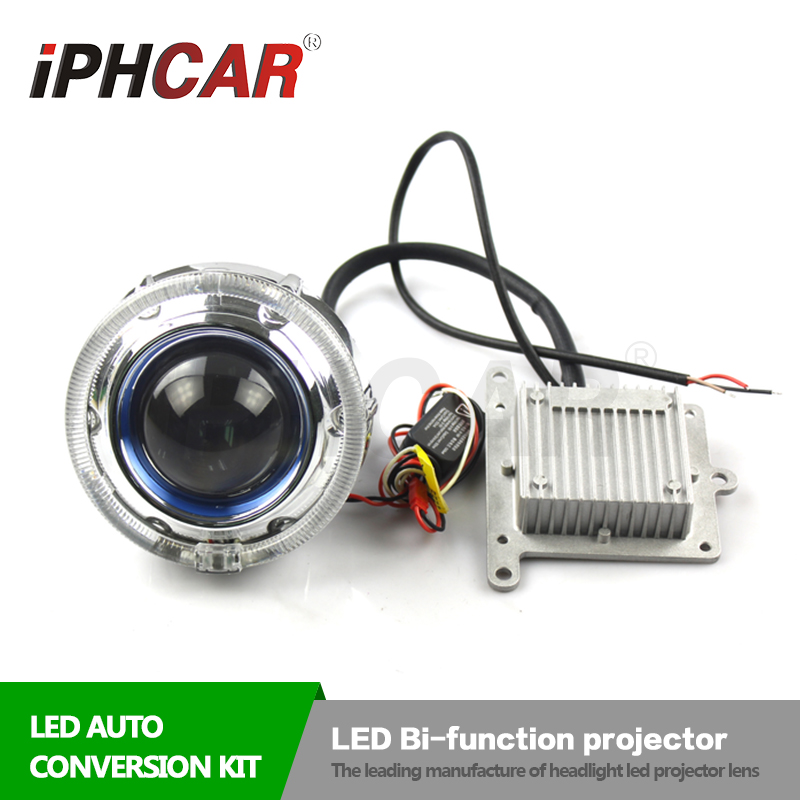 Free Shipping IPHCAR 3.0 High Low Beam White LED Bi-function Projector Lens LED Headlight with LED Projector Shroud Car Styling free shipping 2pcs lot 30w 12v car led high low beam headlight bulb for suzuki sx 2010 sx4 2006 wagon r 00 08 x90 1995