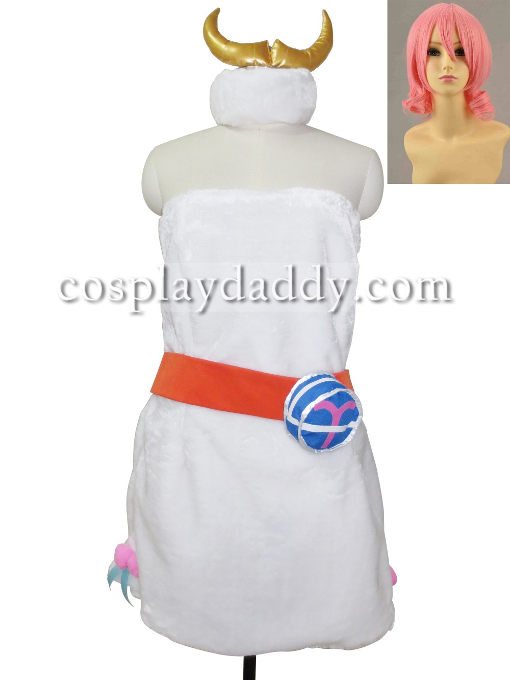 Custom-made Fairy Tail Aries Cosplay Costume Clothes And Shoes With Wig