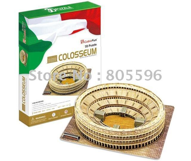 Educational Building toy,3D DIY Models,Home Adornment, Puzzle Toy,Paper model,Papercraft,THE COLOSSEUM