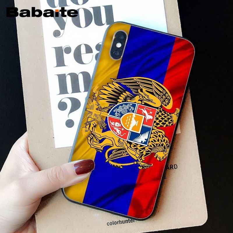 Babaite Rusland wapenschild Double headed eagle Phone Case Cover voor Apple iPhone 8 7 6 6S Plus X XS MAX 5 5S SE XR Mobiele Gevallen