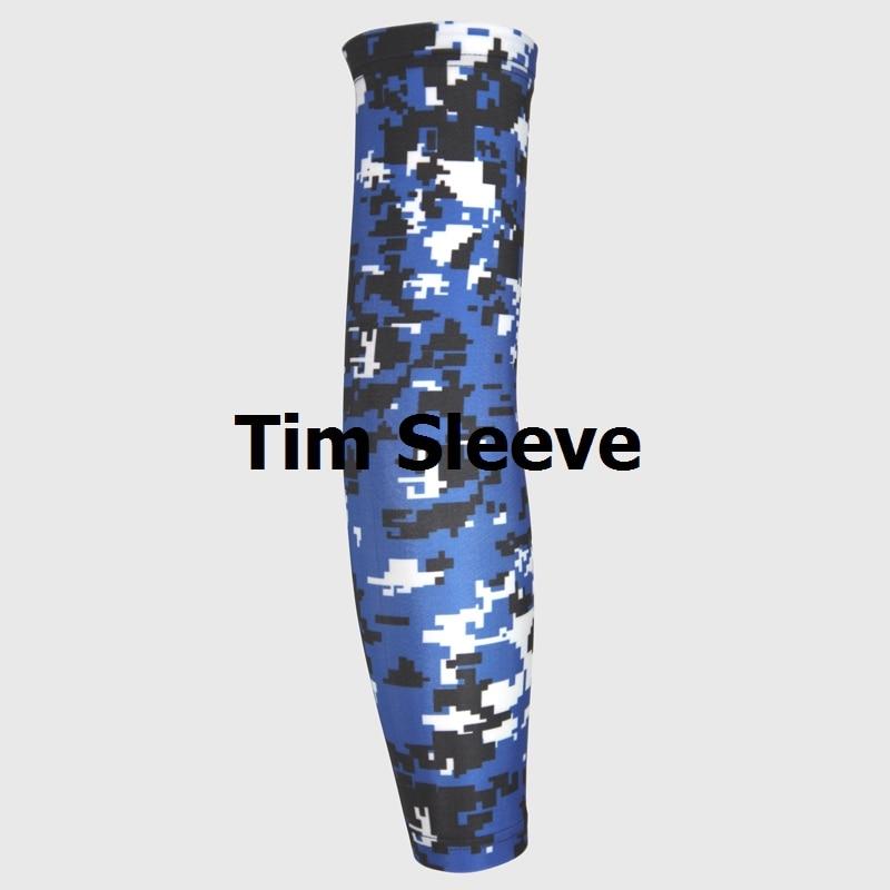 Lime Black Grey Digital Camo Titanium Baseball Sports Compression Arm Sleeve