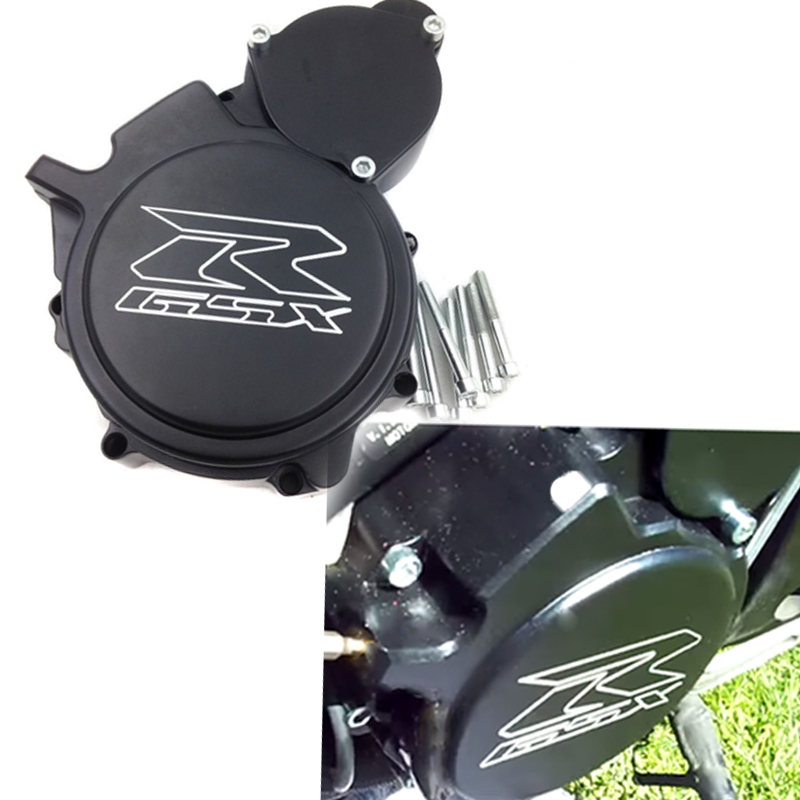 Free shipping motorcycle parts Engine Stator cover  for Suzuki GSXR600/750 2006 2007 2008 2009-2013 BLACK Left side aftermarket free shipping motorcycle parts billet engine stator cover for honda cbr600rr f5 2007 2012 chrome left