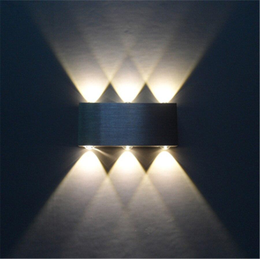 ZINUO Alluminio 6 W Led Wall Luce UP & Down Scale LED lampada da comodino Camera Da Letto Lampada Da Lettura Da Parete Sconce Portico Luce Scale Lampada 220 V 110 V