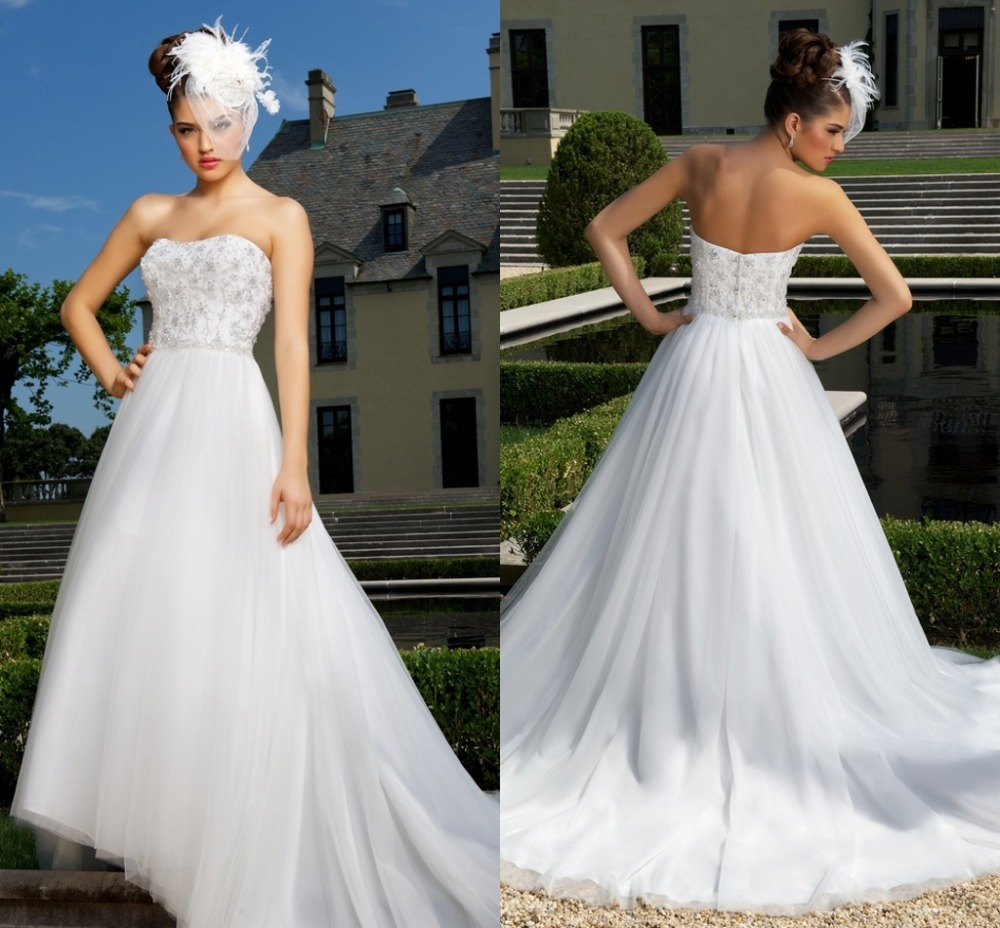 Western Style Wedding Gowns: Sparkly Strapless A Line Country Western Style China Sexy