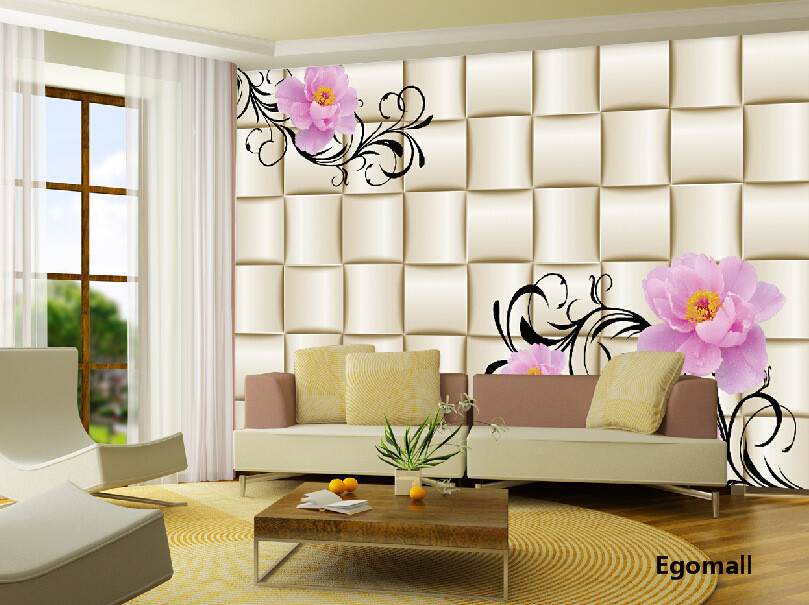 Simple modern 3d wallpaper the living room bedroom tv background 3d wall paper papel de parede for Living room wallpaper design