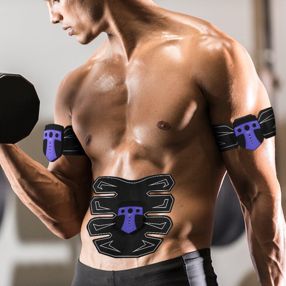 Muscle Stimulator Body Massager Slimming Abdominal Muscle Trainer Belt Smart Body Building Fitness ABS Arm Leg EMS Stimulation