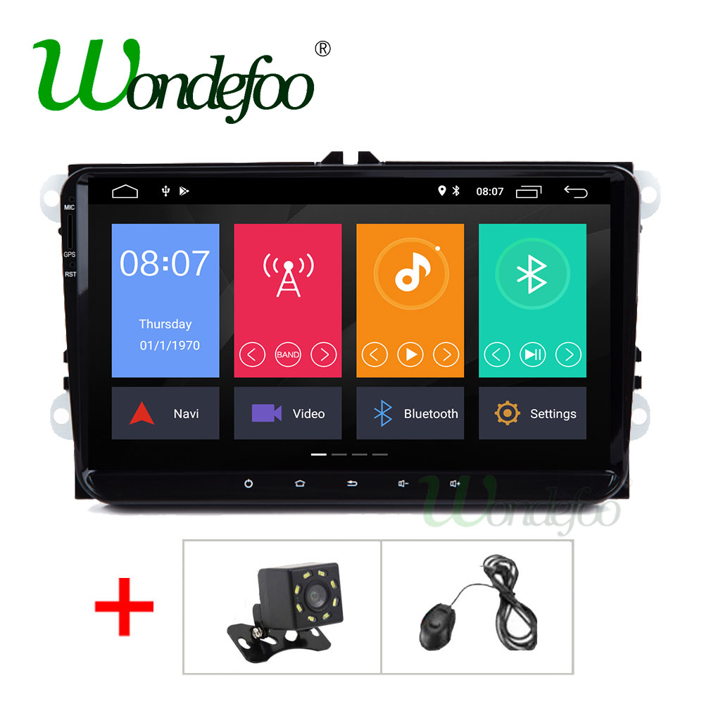 2G Android 8 1 2 DIN Car multimedia GPS for VW GOLF 5 6 Polo Passat