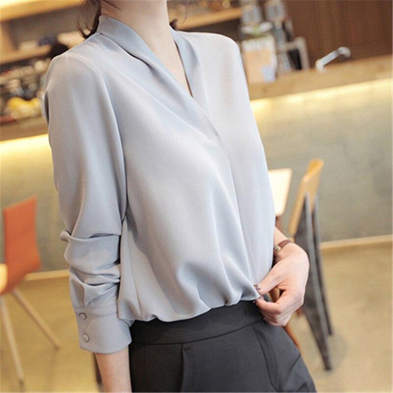 Deodar 2019 à manches longues femmes chemises femmes hauts et chemisiers blusas mujer de moda en mousseline de soie blouse chemise feminina grande taille hauts