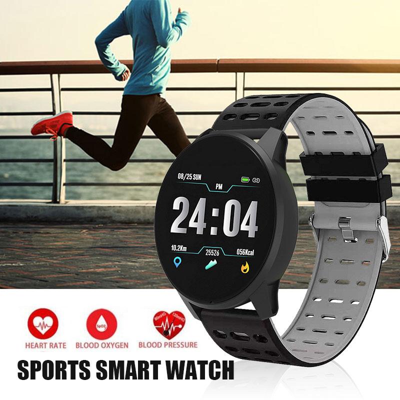 f22ec871d2a4 B2 pulsera Bluetooth Smart correr podómetro de la vigilancia de la presión  arterial remoto Tomar ...