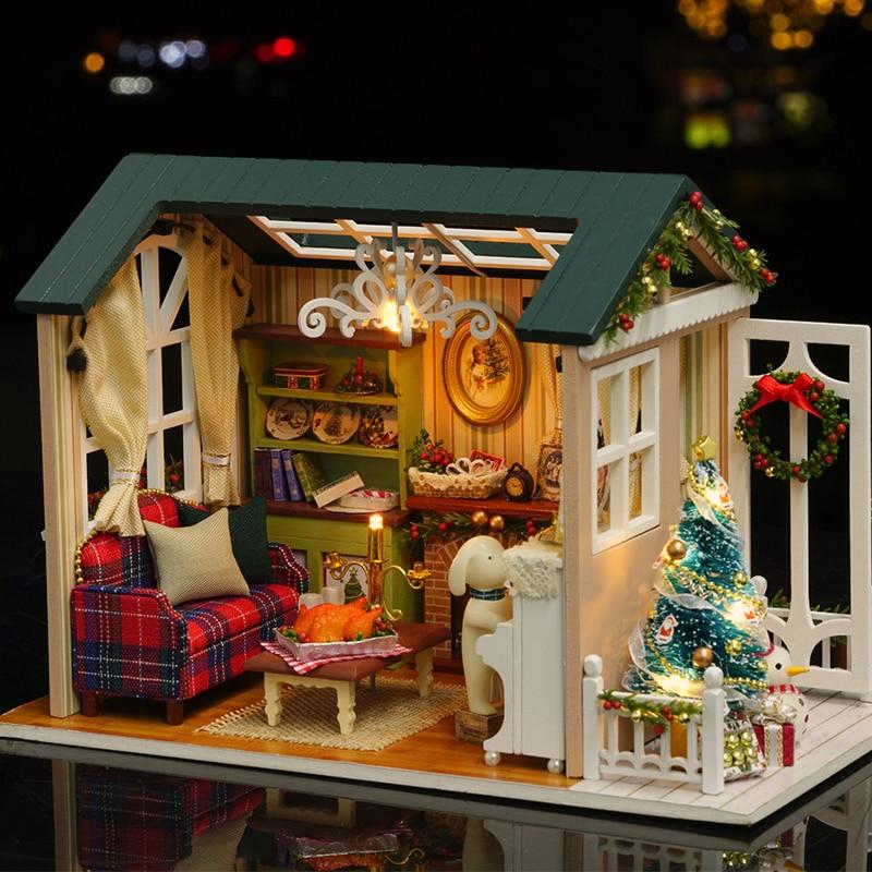 CUTEBEE muesseca casa miniatura Z009 vakansionları ilə DIY mueseces - Uşaq konstruktorları - Fotoqrafiya 6