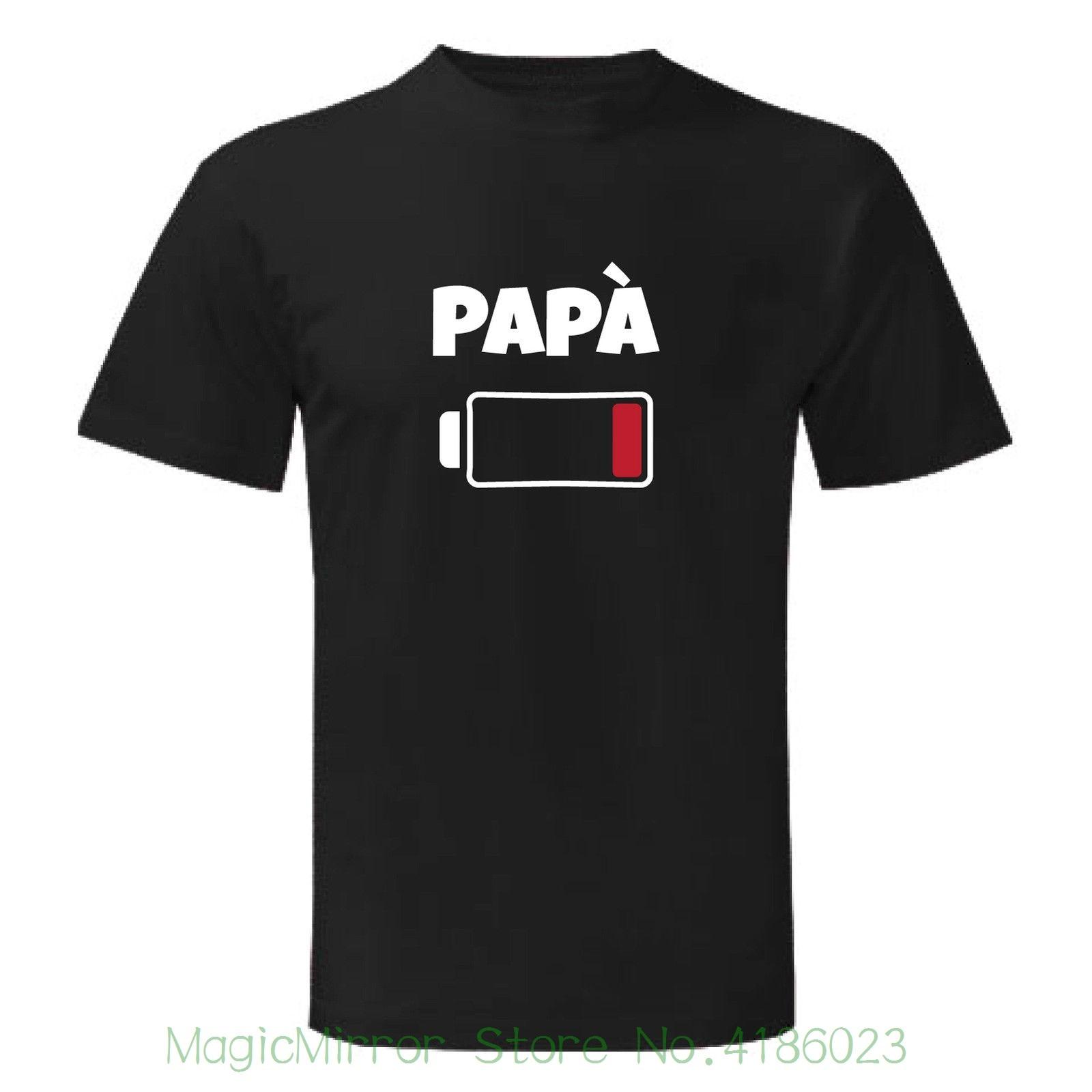 Art T-shirt , Maglietta Famiglia Pap. Batteria , Uomo Man , Nero Round Collar Short Sleeve Tee Shirts