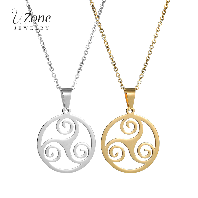 UZone Hot Sale Teen Wolf Necklace Stainless Steel Triskelion Allison Pendant For Christmas Gifts image