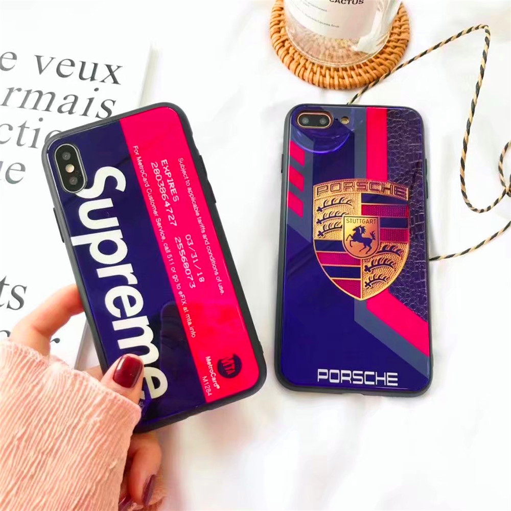 Soft Frame Hard Tempered Glass Back Covers for iPhone X mirror Glossy protective Phone case for iphone 6 7 8 Plus