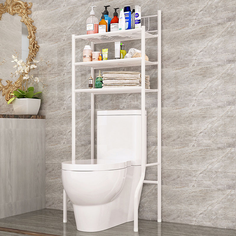 3 Tier Bathroom Storage Rack Metal Towel Organizer Freestanding White Over the Toilet Storage Rack for Bathroom Essentials|Coat Racks| |  - title=