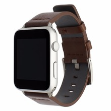 Italian Genuine Leather Watchband + Adapter for iWatch Apple Watch 38mm 42mm Series 1 2 3