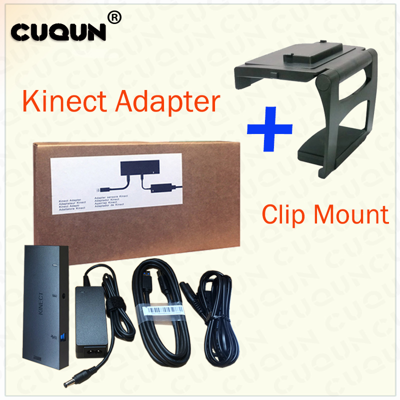 Kinect Adapter & Clip Mount For Xbox One S Kinect Adaptor Kinect 2.0 For Xbox One Kinect Adapter Add TV Clip Stand Holder