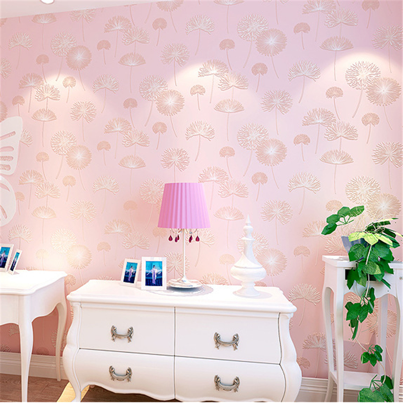 ФОТО beibehang Warm and romantic dandelion wallpaper non wovens walls paper bedroom living room video 3d wall murals  papel parede