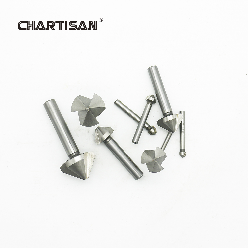 CHARTISAN High Quality HSS Chamfer Drills Chamfering End Mill Cutter Countersink Drill Bits