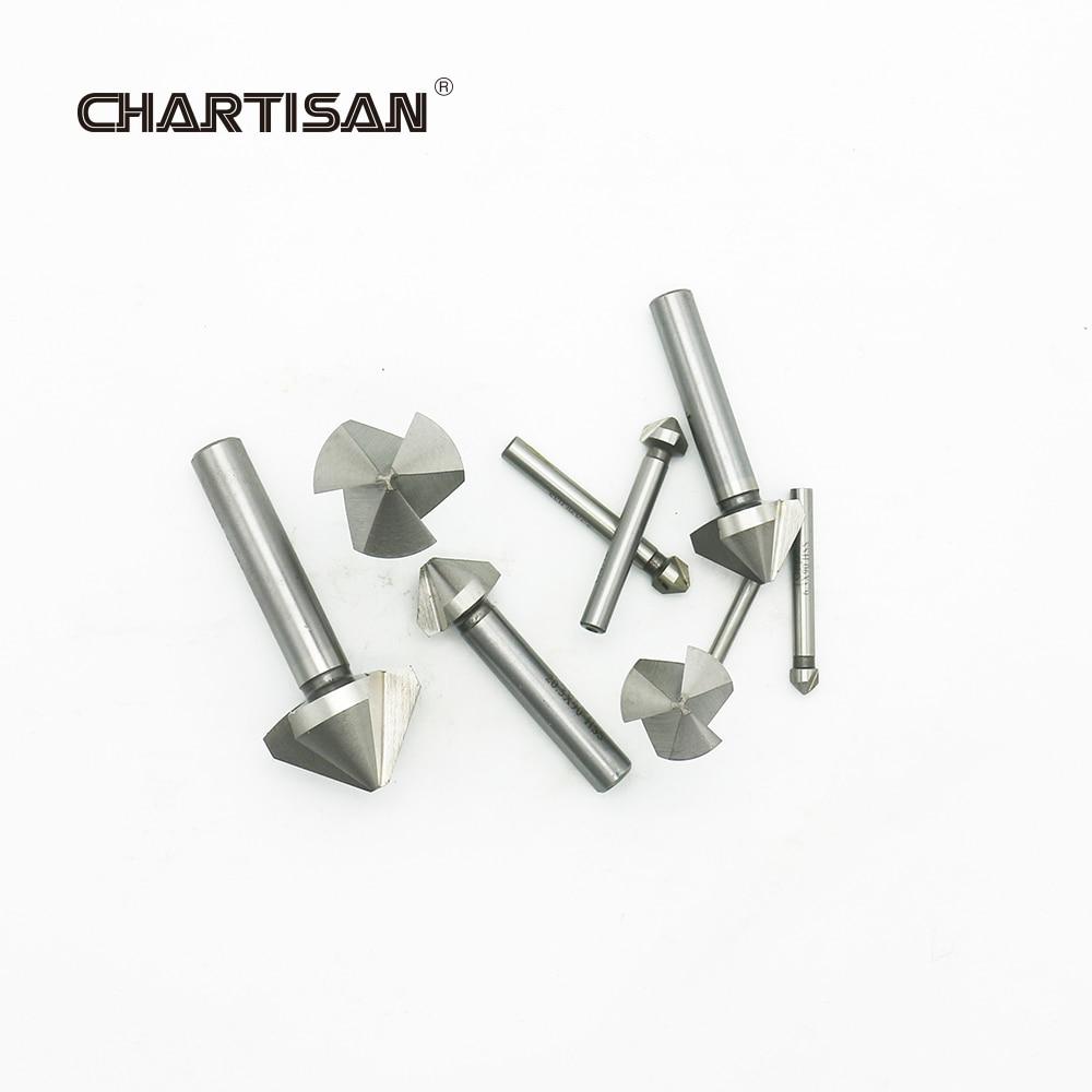 CHARTISAN高品質HSS面取りドリル面取りエンドミルカッター皿穴ドリルビット
