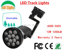 Factory Wholesale Dimmable 12W 1200LM High Quality LED TrackLights Showcase LED Spotlight Track Lighing CE ROHS