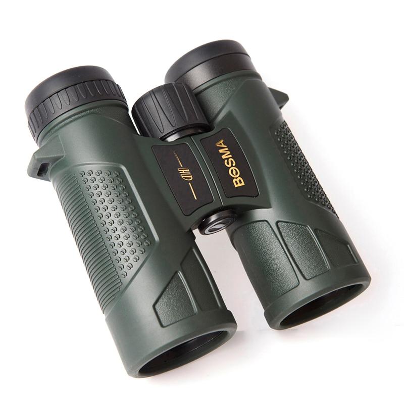 Binoculares BOSMA nightingale 10x42 película de fase impermeable de alta definición baja luz de visión nocturna tecnología de membrana de fase