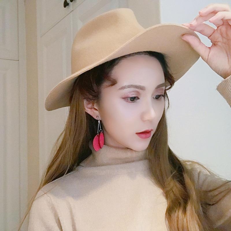 2019 Classic Forest Style Wood Earring Long Tassel Leaf Design Earrings For Women Korean Jewelry Bijoux New