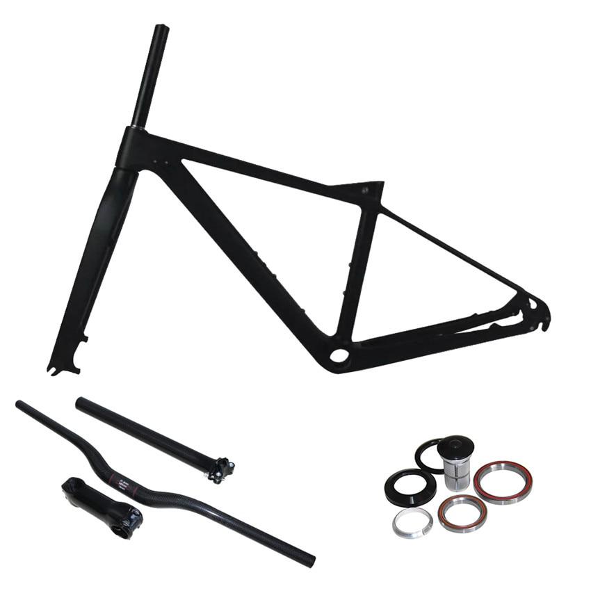 Smileteam 650B горный велосипед Рама углерода 27.5 ER полный углерода MTB велосипед рама с Вилка/руль/вынос/Подседельный комплектов