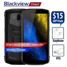 Blackview BV5800 pro Водонепроницаемый смартфон IP68 4G 5580 мАч 5,5 «18:9 MT6739 4 ядра android 8,1 2 ГБ + 16 ГБ 13MP беспроводной зарядки