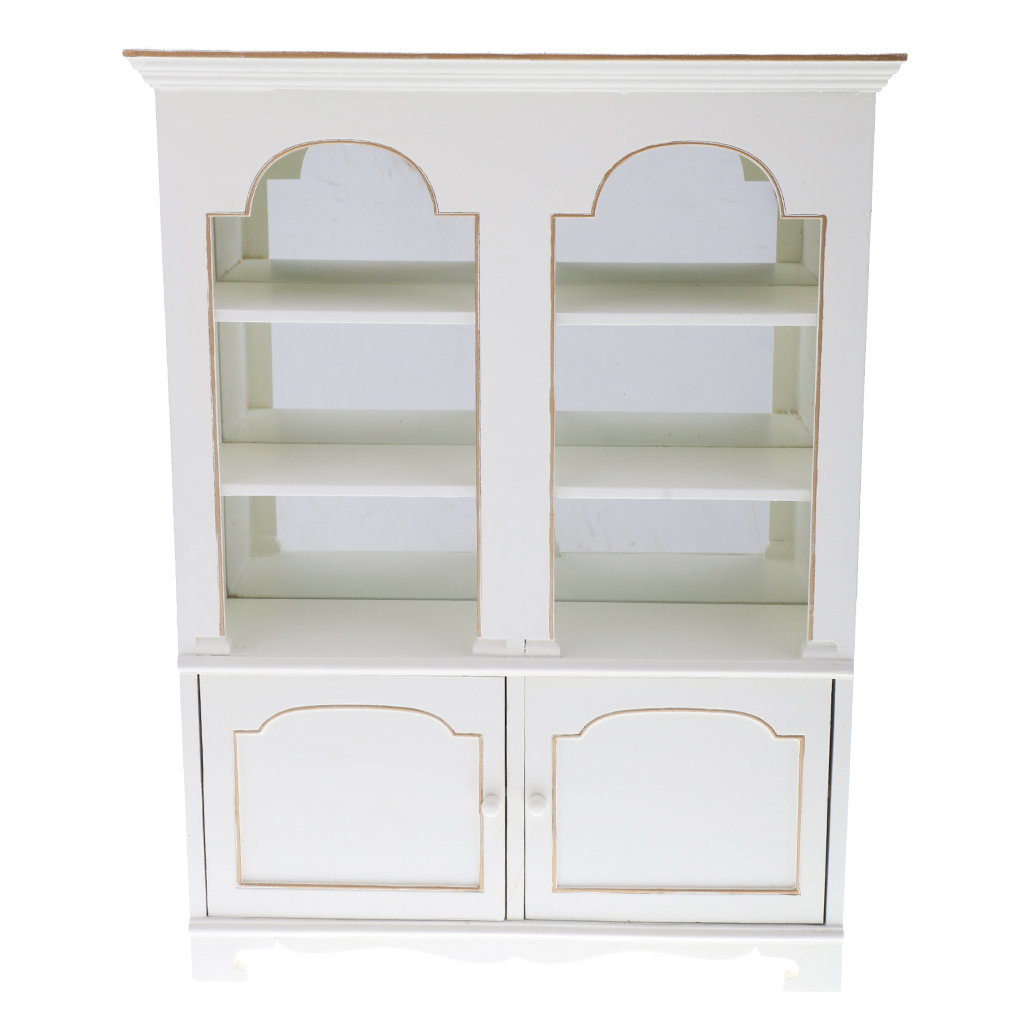 1:6 Scale Miniature Furniture Bookcase Dollhouse Display Cabinet Model Pretend Play Furniture Toys for Kids Children Xmas Gift 1 12 dollhouse miniature furniture multifunction wood cabinet bookcase white