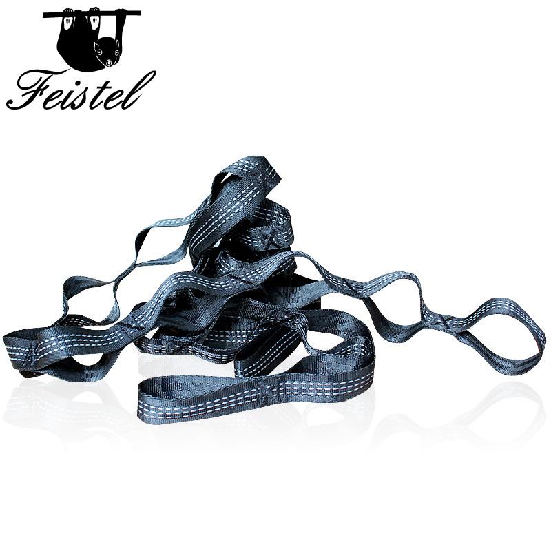 Black X-Style Hammock Straps Rope Accessories Load 2000KG Strong