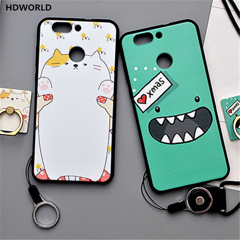 For Huawei nova 2 Case 3D Stereo Relief Painted TPU Cases Luxury Soft Silicone Case For Huawei nova 2 plus Back Cover Coque