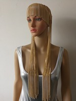 New Fashion Style WRB978 Women Gold Chains Layers Head Chains Unique Longer Hair Head Chains Jewelry 3 Colors