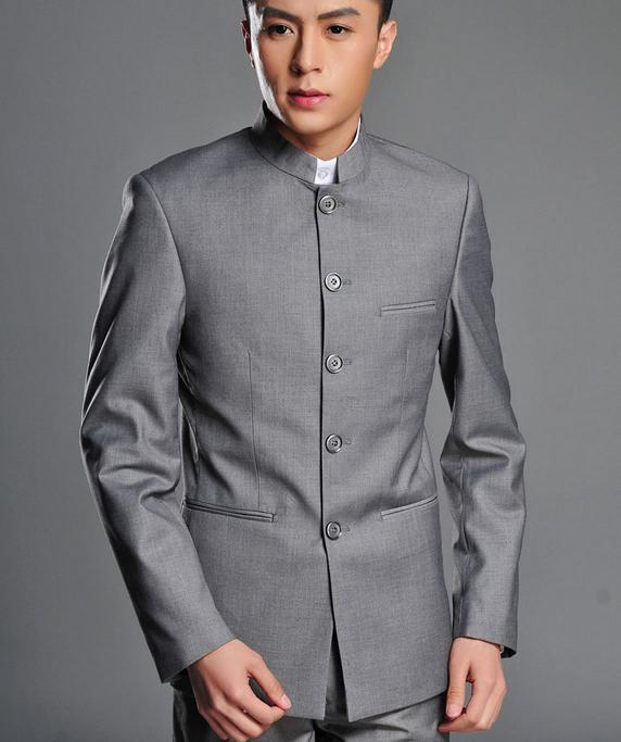 Compare Prices on Grey Suit Black Collar- Online Shopping/Buy Low