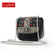 Small Rivet Flap Shoulder Crossbody Bags Designer Handbags High Quality PU Leather Mini Chain Women Messenger Bag