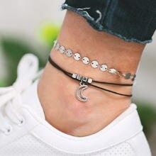 Новые украшения для ног креативные простые Многослойные браслеты