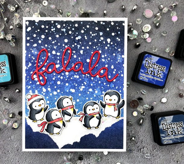 Dies Stamp Clear Little-Penguins Christmas Rubber-Stamps/kids Card-Making/children And