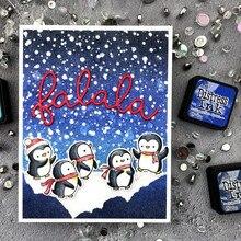 ТПП Рождество маленьких пингвинов прозрачные резиновые штампы/Детские прозрачные штампы и штампы для скрапбукинга/изготовление открыток/штамп для детей
