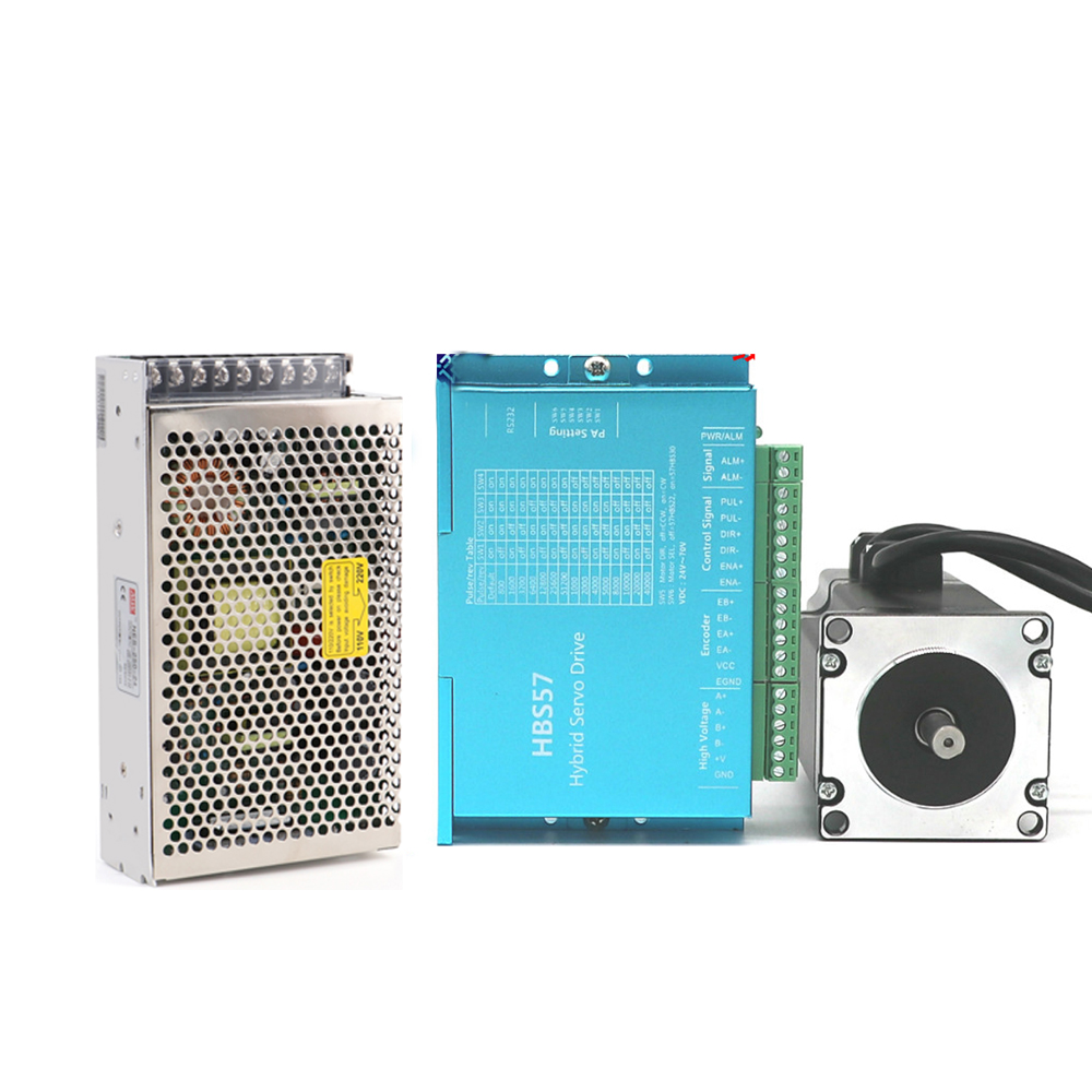 Nema23 Closed Loop Stepper Motor Driver Kit Power Supply with 3M Encoder Cable 3M Motor Cable