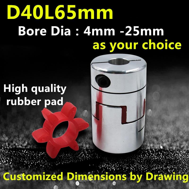 D40 L65 CNC Flexible Jaw Spider Plum Coupling Shaft Coupler 5/6/7/8/9/10/12/14/15/16/17/18/19/20/21/22mm rak bumbu dapur gantung minimalis