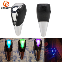 POSSBAY LED Gear Knob for Peugeot Ford Opel Car Gear Shift Knob 5/6 Speed Colorful Change Shift Lever Universal Interior Parts