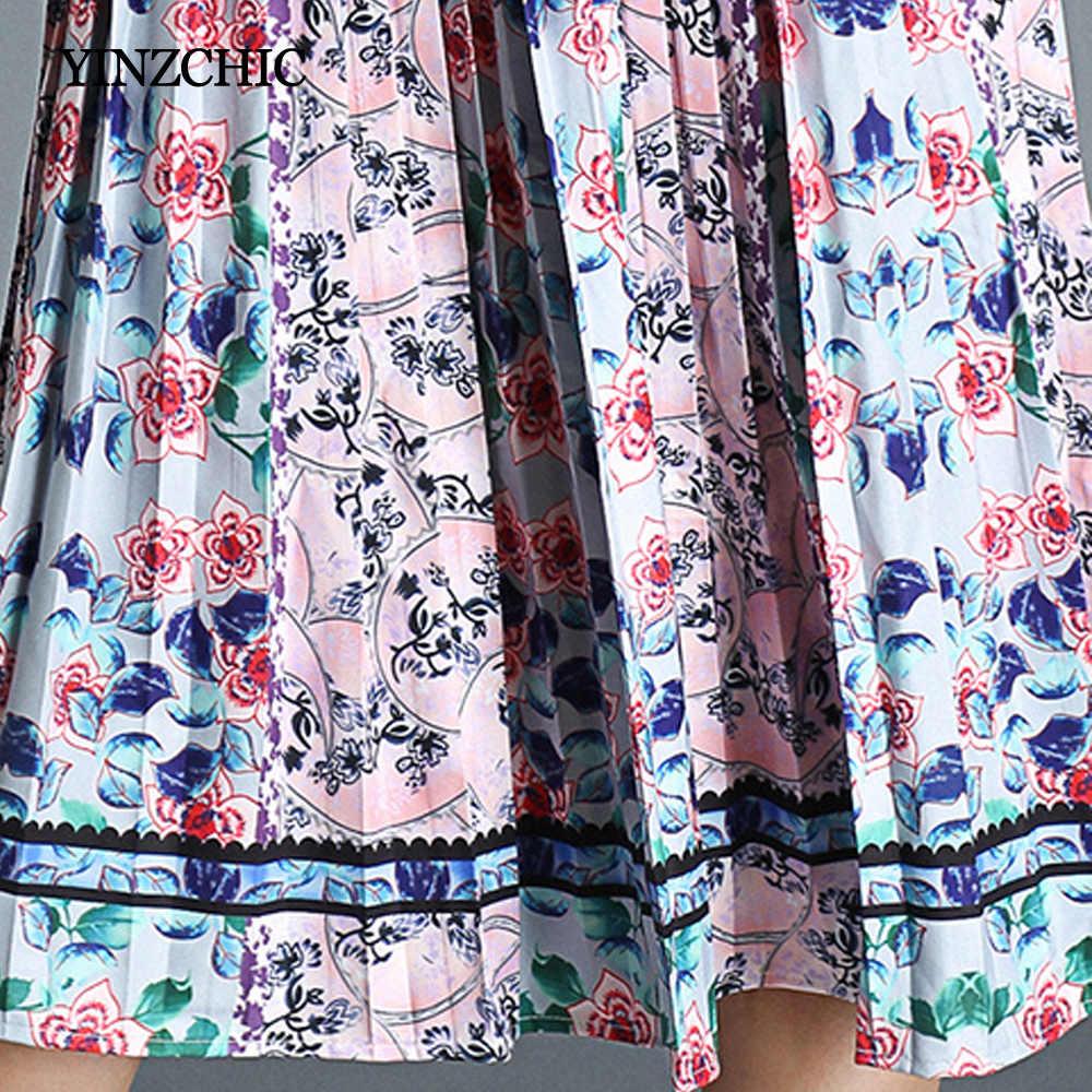 Винтажное женское осеннее платье с принтом, с длинным рукавом, женские элегантные платья средней длины, вечерние плиссированные платья до колена, женские повседневные платья