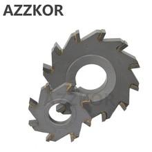 3 両面刃先交換式ディスクカッターフライス見た合金コーティングタングステン鋼工具の Cnc ブレード加工へフラット AZZKOR 超硬工具